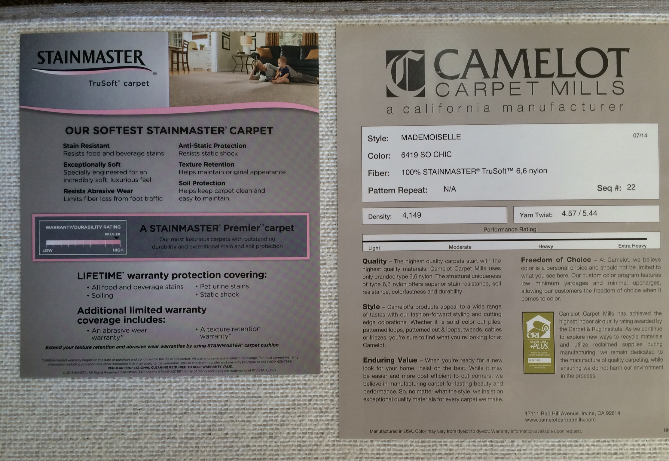 Camelot Carpet Mills Carpet Vidalondon